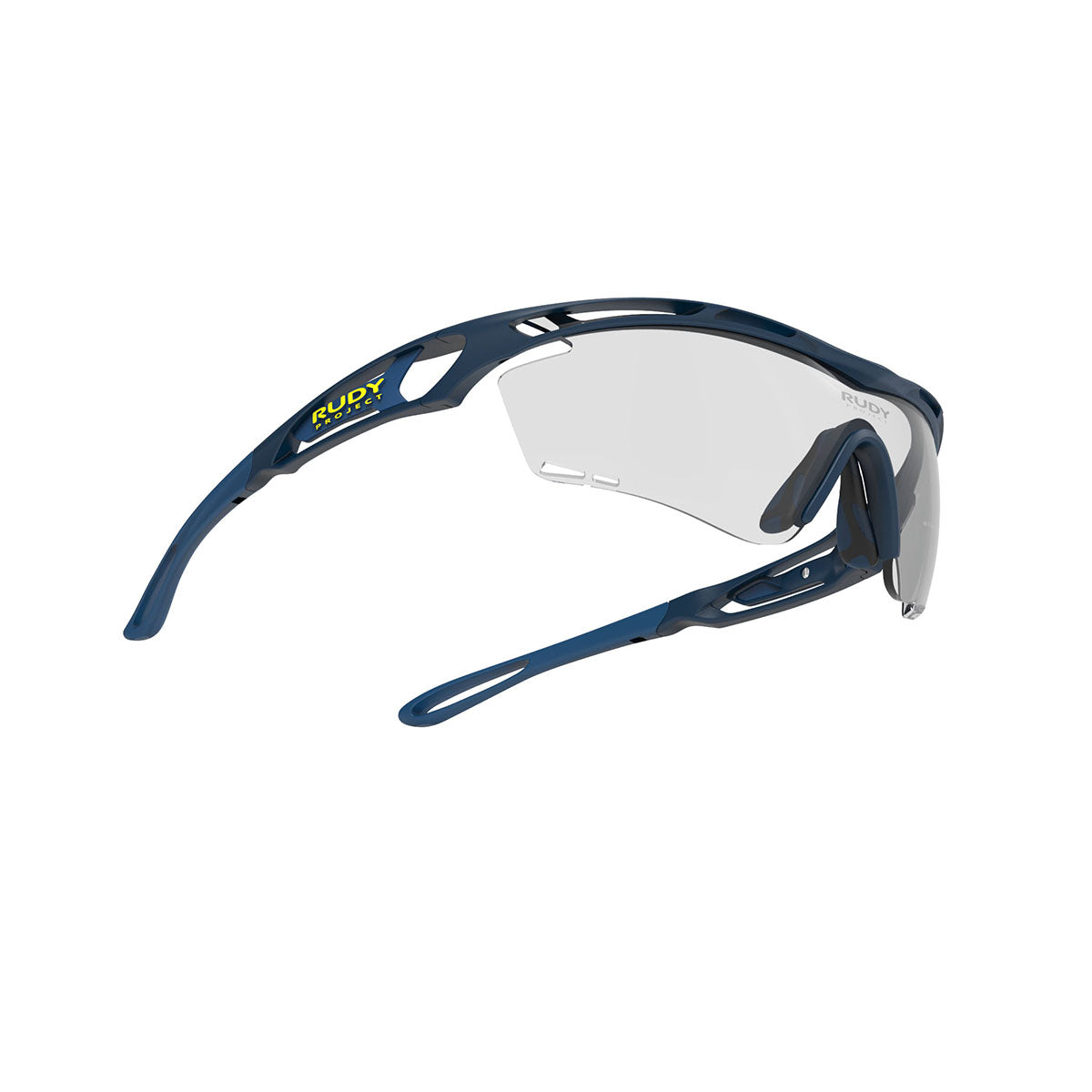 Rudy Project - Tralyx - frame color: Blue Navy Matte - lens color: ImpactX-2 Photochromic Clear to Black - photo angle: Bottom Front Angle Variant Hover Image