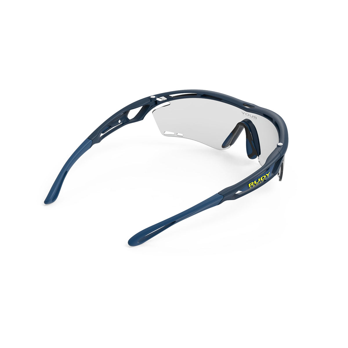 Rudy Project - Tralyx - frame color: Blue Navy Matte - lens color: ImpactX-2 Photochromic Clear to Black - photo angle: Top Back Angle Variant Hover Image