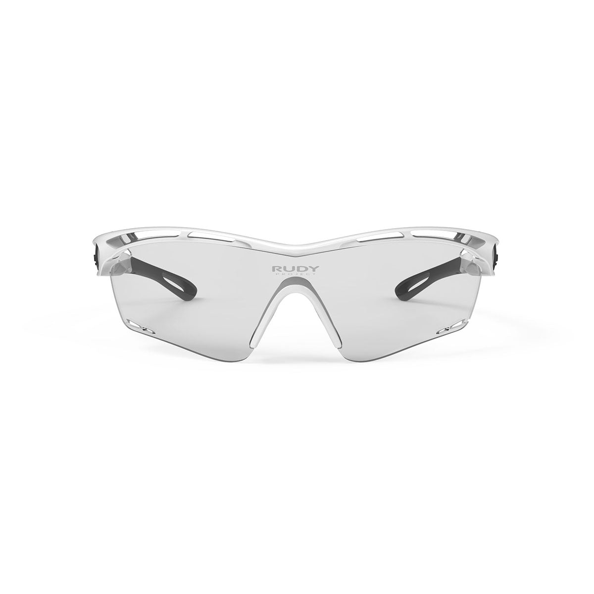 Rudy Project - Tralyx - frame color: White Gloss - lens color: ImpactX-2 Photochromic Clear to Black - photo angle: Front View Variant Hover Image
