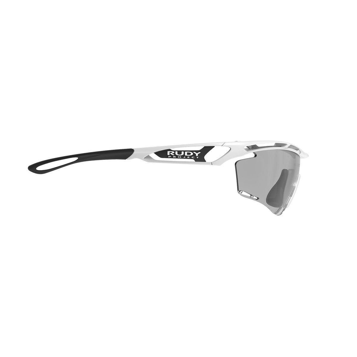 Rudy Project - Tralyx - frame color: White Gloss - lens color: ImpactX-2 Photochromic Clear to Black - photo angle: Side Variant Hover Image