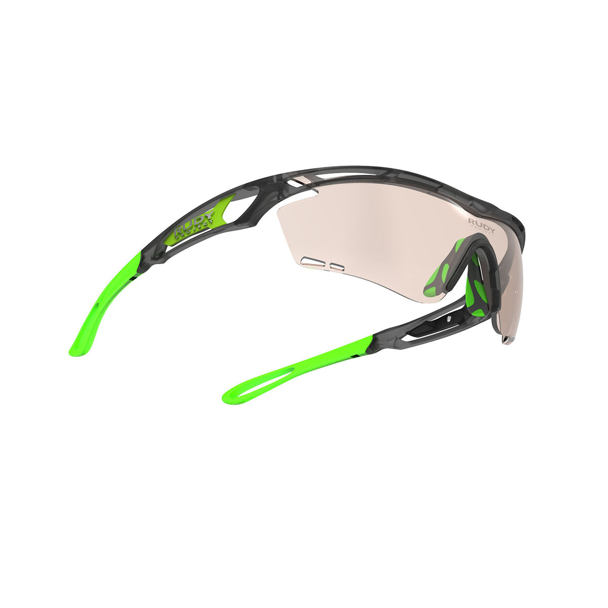 Rudy Project - Tralyx - frame color: Ice Graphite - lens color: ImpactX-2 Photochromic Clear to Laser Brown - photo angle: Bottom Front Angle Variant Hover Image