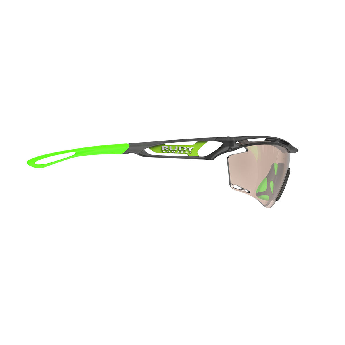 Rudy Project - Tralyx - frame color: Ice Graphite - lens color: ImpactX-2 Photochromic Clear to Laser Brown - photo angle: Side Variant Hover Image