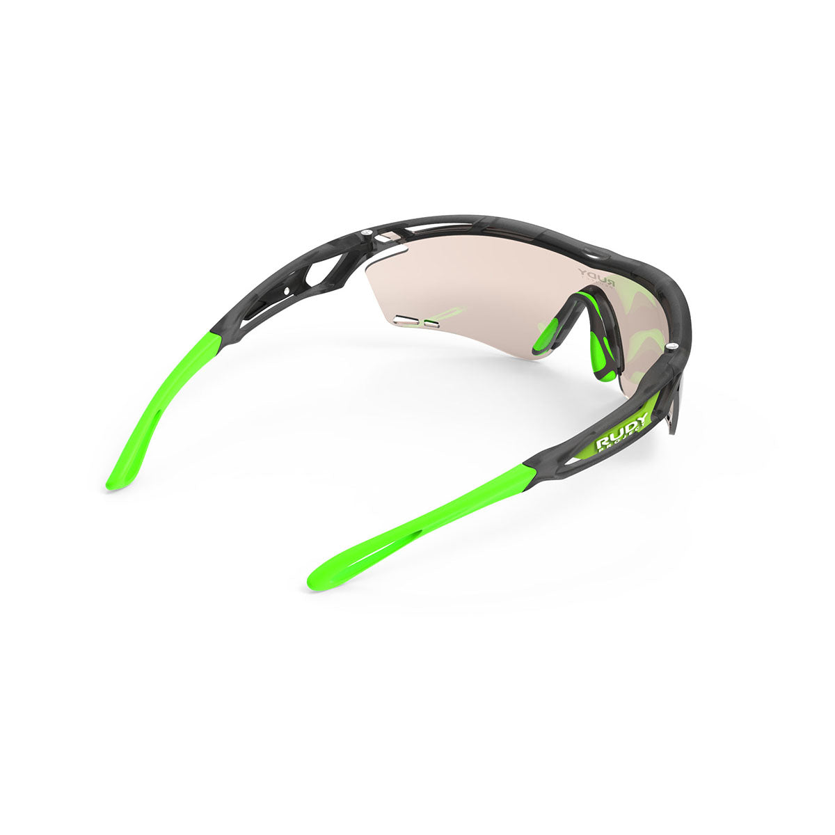 Rudy Project - Tralyx - frame color: Ice Graphite - lens color: ImpactX-2 Photochromic Clear to Laser Brown - photo angle: Top Back Angle Variant Hover Image