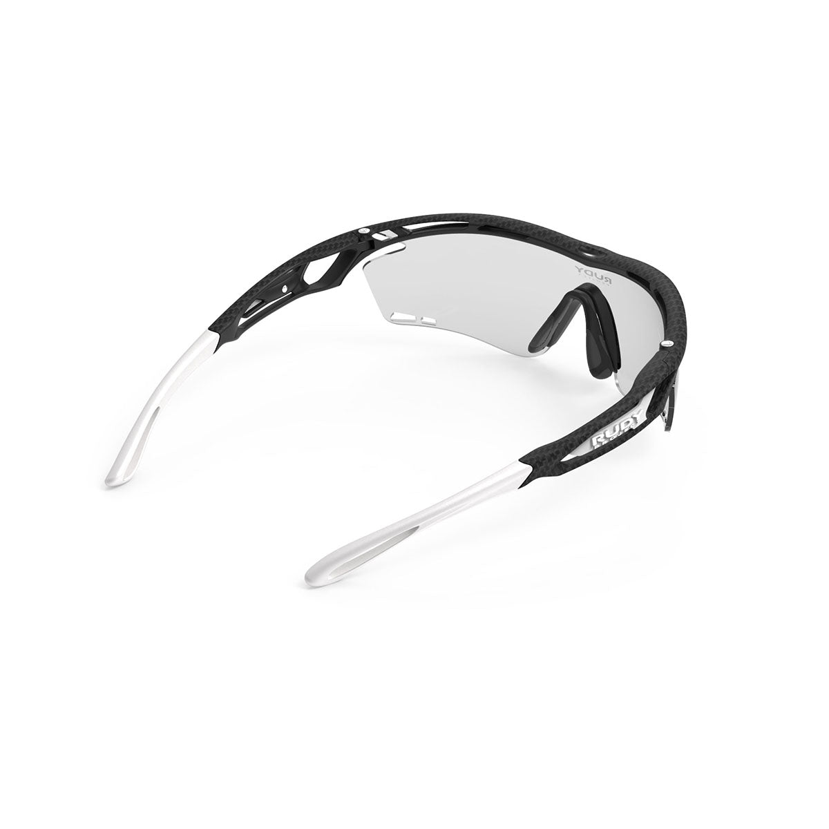 Rudy Project - Tralyx - frame color: Carbonium - lens color: ImpactX-2 Photochromic Clear to Laser Black - photo angle: Top Back Angle Variant Hover Image