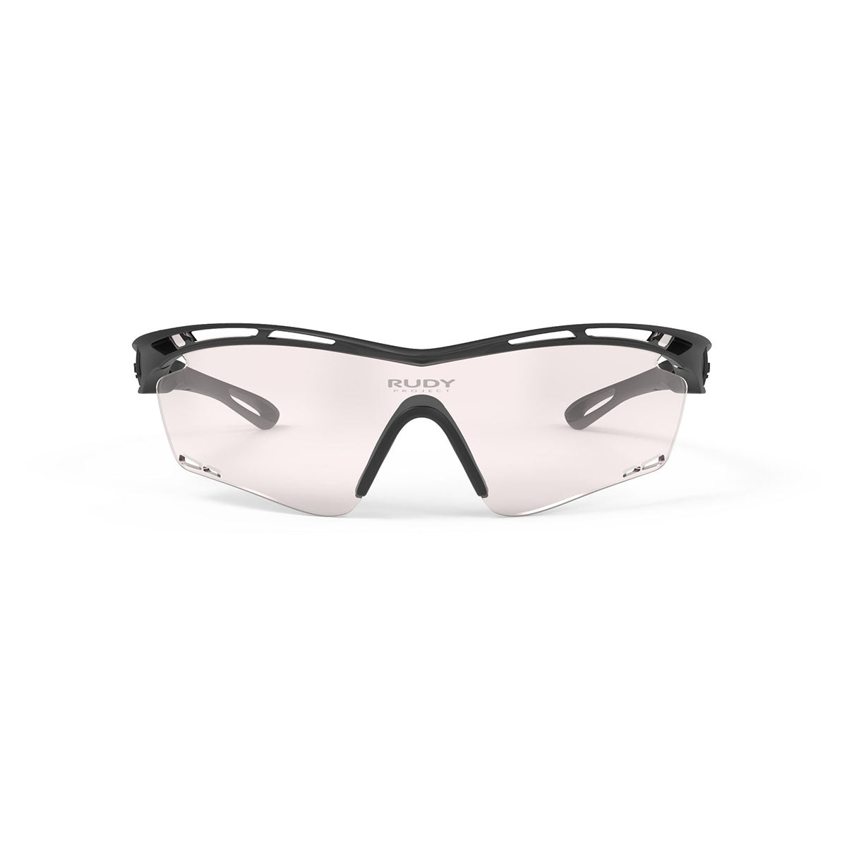 Rudy Project - Tralyx - frame color: Matte Black - lens color: ImpactX-2 Photochromic Clear to Laser Red - photo angle: Front View Variant Hover Image