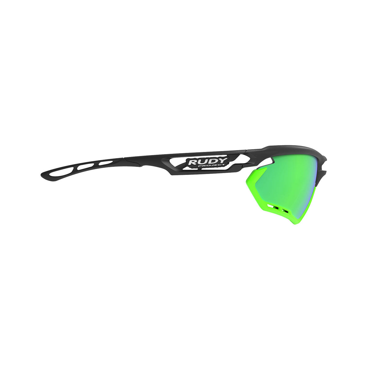 Rudy Project Fotonyk Matte Black Frame With Lime Bumpers and Polar 3FX HDR Multilaser Green Lenses