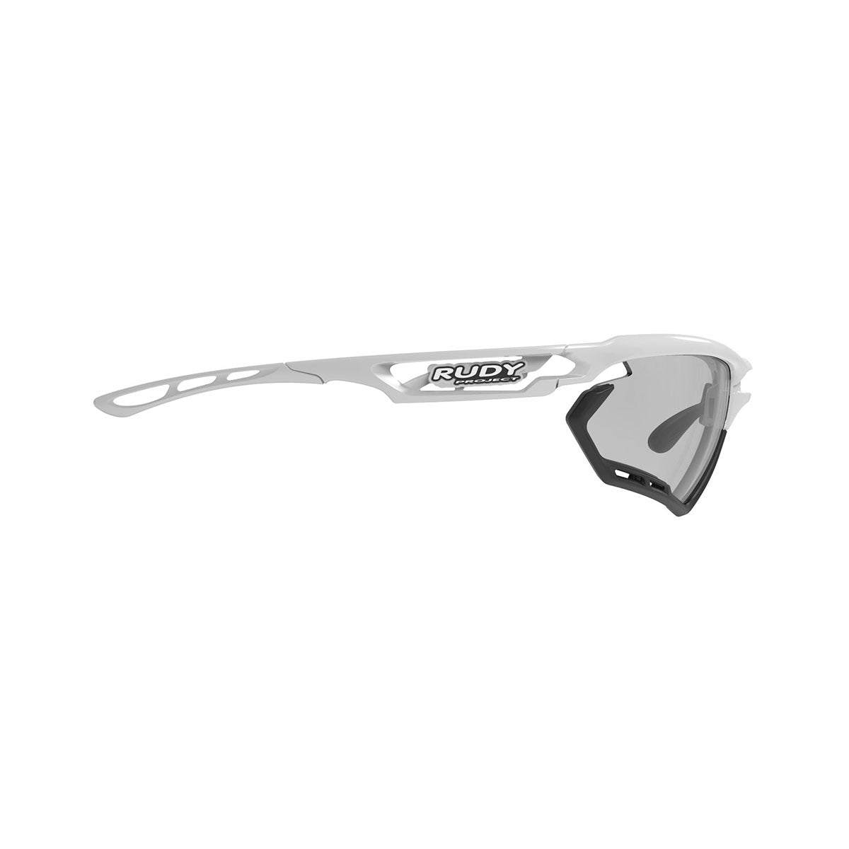 Rudy Project - Fotonyk - frame color: White Gloss - lens color: ImpactX-2 Photochromic Clear to Black - Bumper Color: Black - photo angle: Side Variant Hover Image