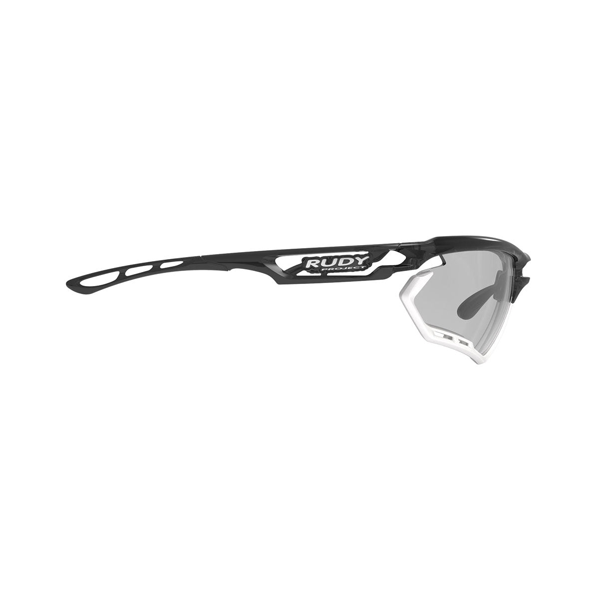 Rudy Project - Fotonyk - frame color: Crystal Graphite - lens color: ImpactX-2 Photochromic Clear to Black - Bumper Color: White - photo angle: Side Variant Hover Image