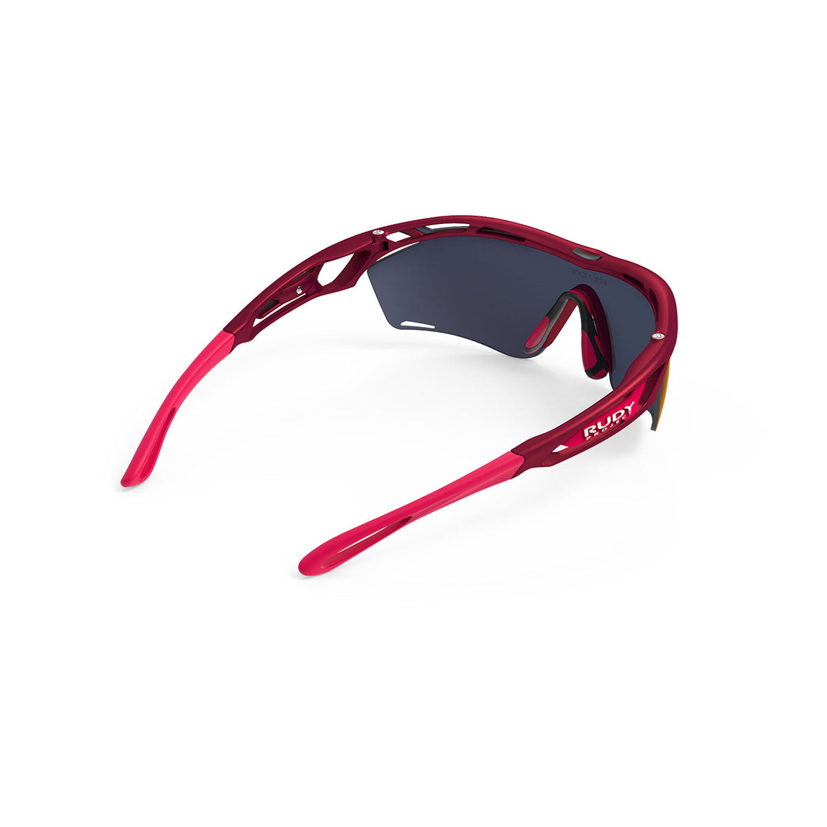 Rudy Project - Tralyx Slim - frame color: Merlot Matte - lens color: Multilaser Red - photo angle: Top Back Angle Variant Hover Image