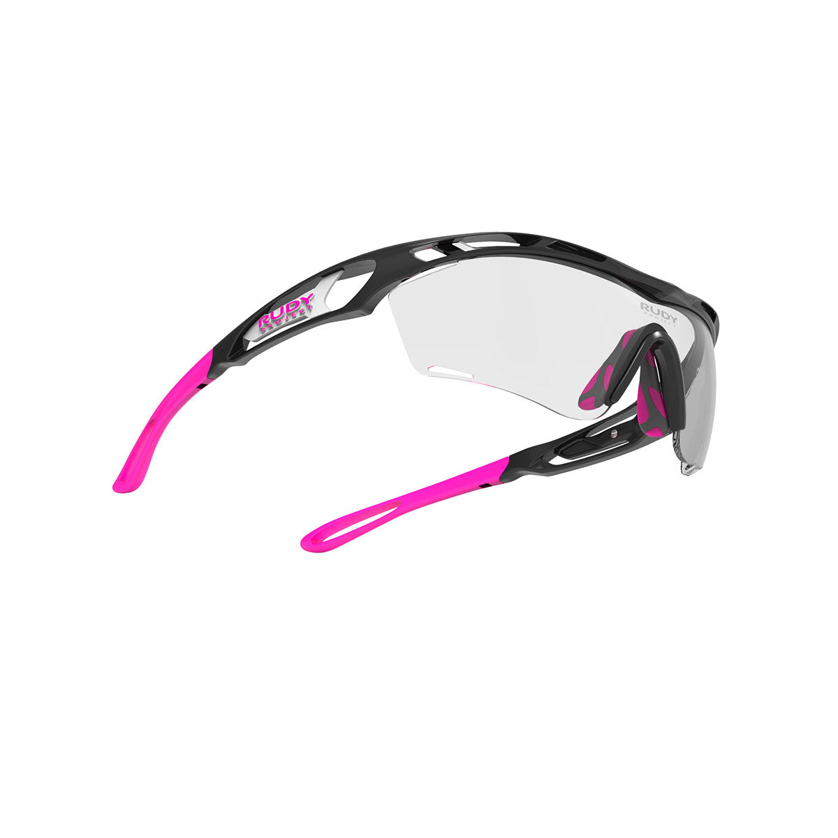Rudy Project - Tralyx Golf - frame color: Matte Black - lens color: ImpactX-2 Photochromic Laser Purple - photo angle: Bottom Front Angle Variant Hover Image