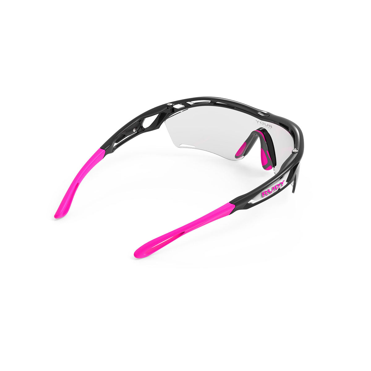 Rudy Project - Tralyx Golf - frame color: Matte Black - lens color: ImpactX-2 Photochromic Laser Purple - photo angle: Top Back Angle Variant Hover Image