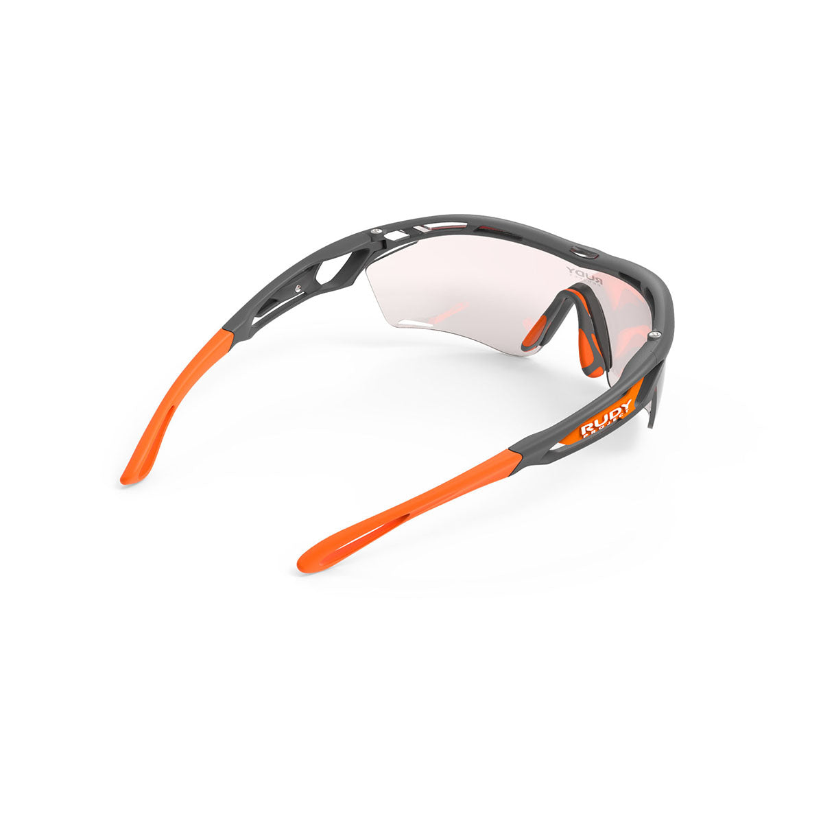 Rudy Project - Tralyx Golf - frame color: Pyombo Matte - lens color: IMPACTX-2 PHOTOCHROMIC PHOTOCHROMIC CLEAR TO RED LENSES - photo angle: Top Back Angle Variant Hover Image