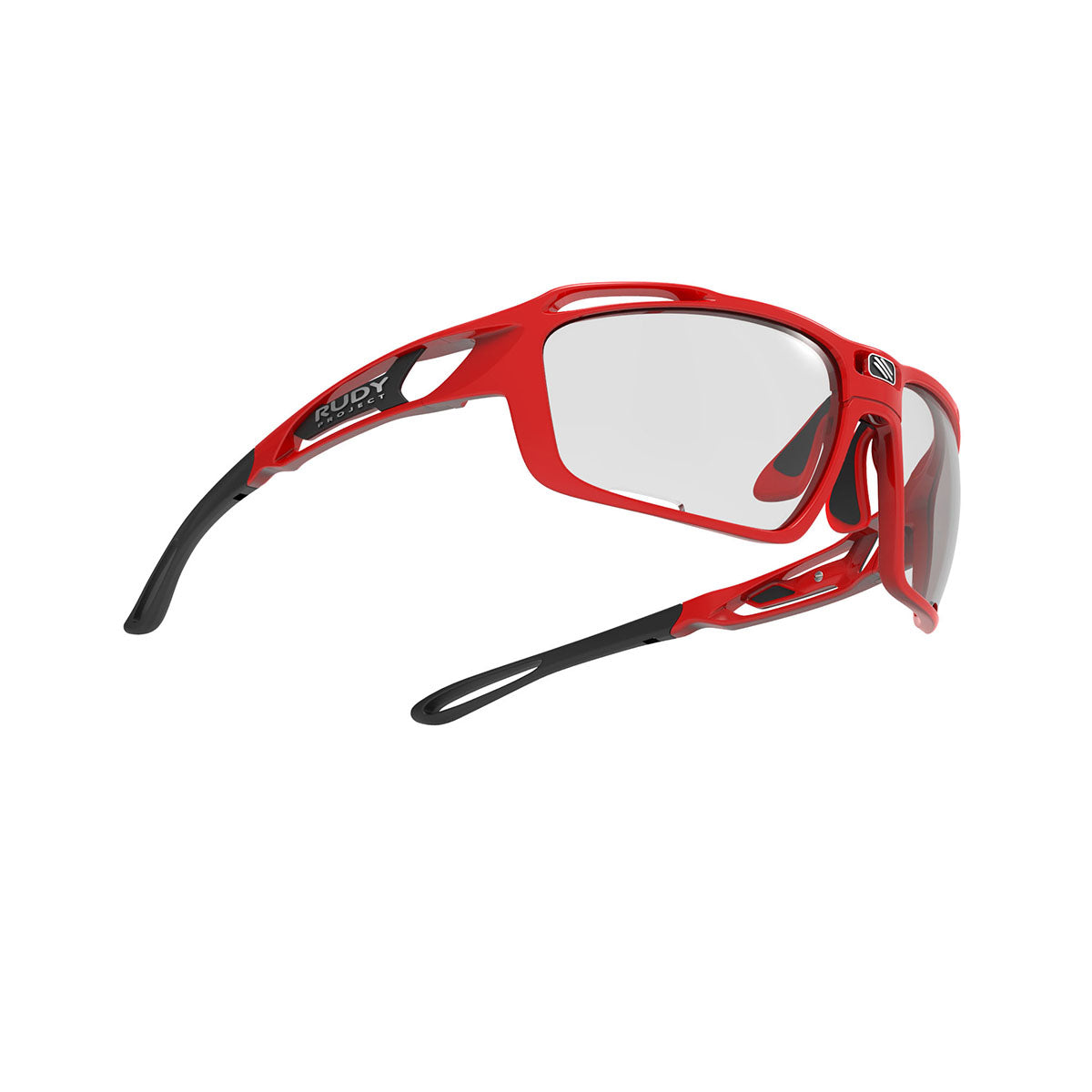 Rudy Project - Sintryx - frame color: Fire Red Gloss - lens color: ImpactX-2 Photochromic Clear to Black - Bumper Color:  - photo angle: Bottom Front Angle Variant Hover Image