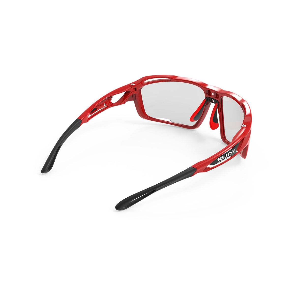 Rudy Project - Sintryx - frame color: Fire Red Gloss - lens color: ImpactX-2 Photochromic Clear to Black - Bumper Color:  - photo angle: Top Back Angle Variant Hover Image