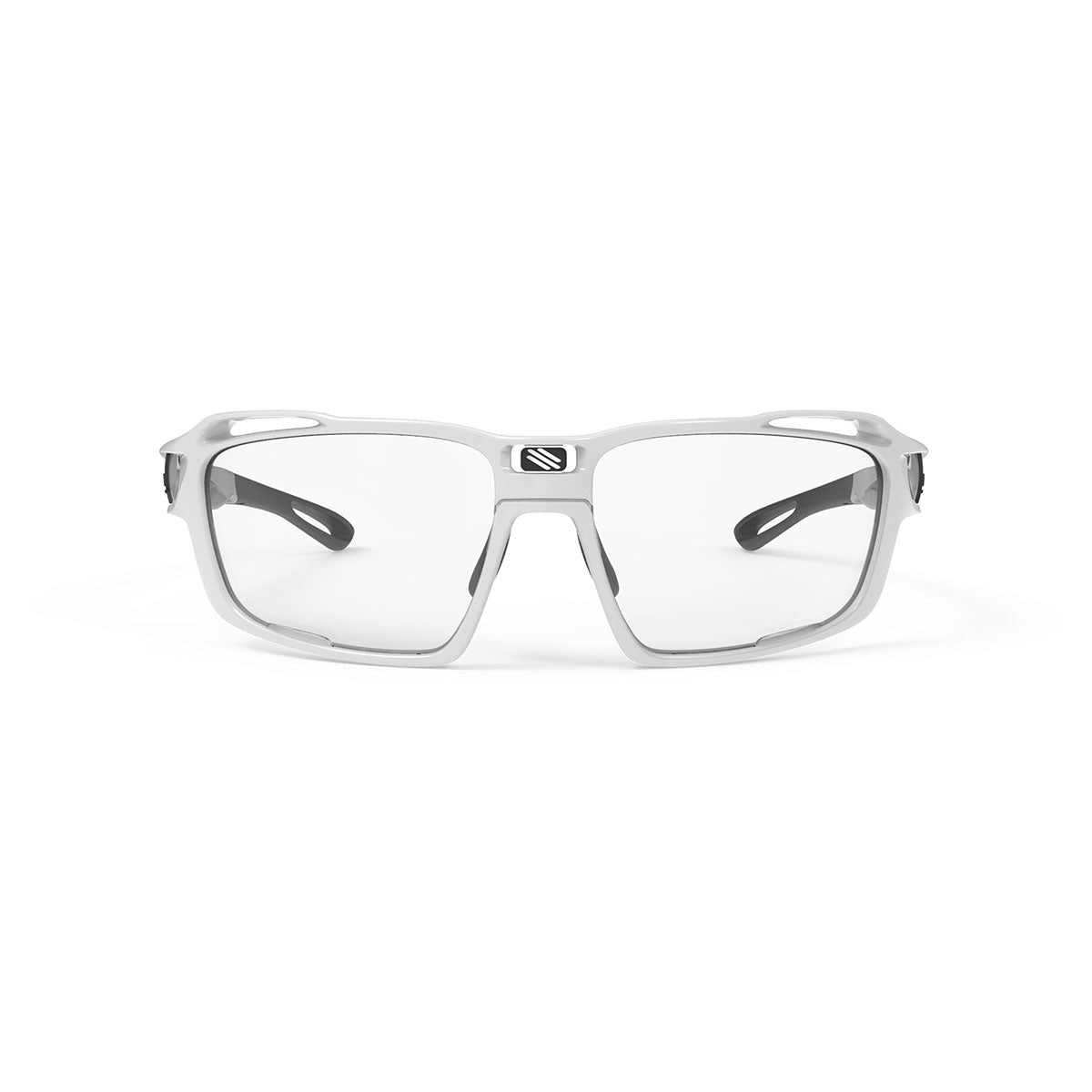 Rudy Project - Sintryx - frame color: White Gloss - lens color: ImpactX-2 Photochromic Clear to Black - Bumper Color:  - photo angle: Front View Variant Hover Image