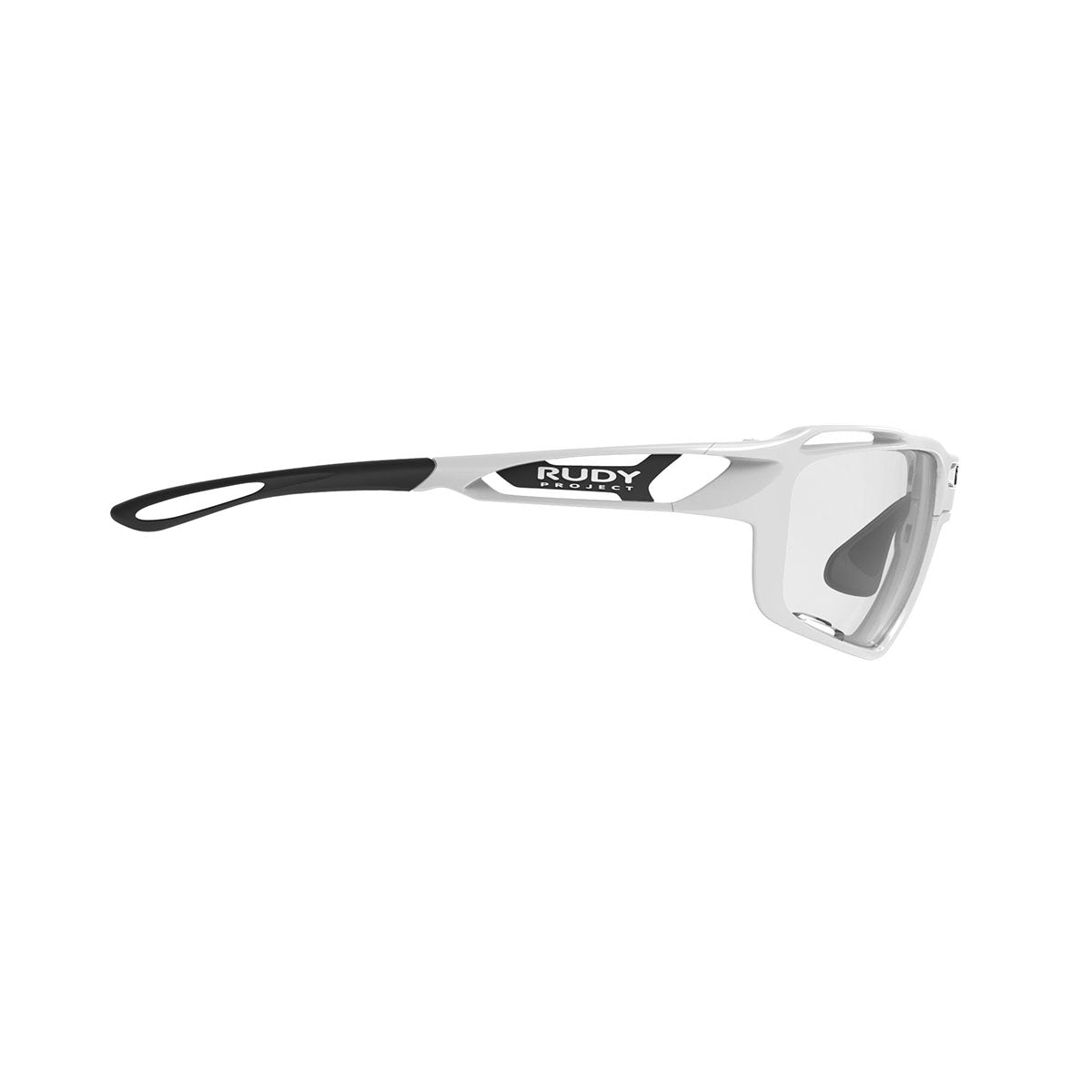 Rudy Project - Sintryx - frame color: White Gloss - lens color: ImpactX-2 Photochromic Clear to Black - Bumper Color:  - photo angle: Side Variant Hover Image