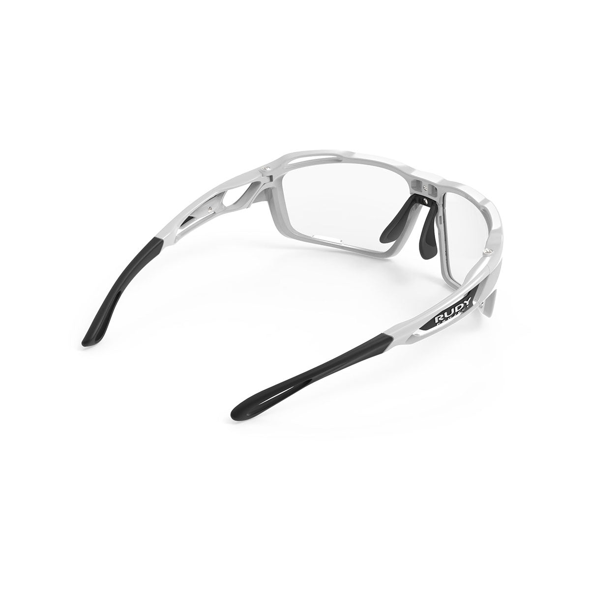 Rudy Project - Sintryx - frame color: White Gloss - lens color: ImpactX-2 Photochromic Clear to Black - Bumper Color:  - photo angle: Top Back Angle Variant Hover Image