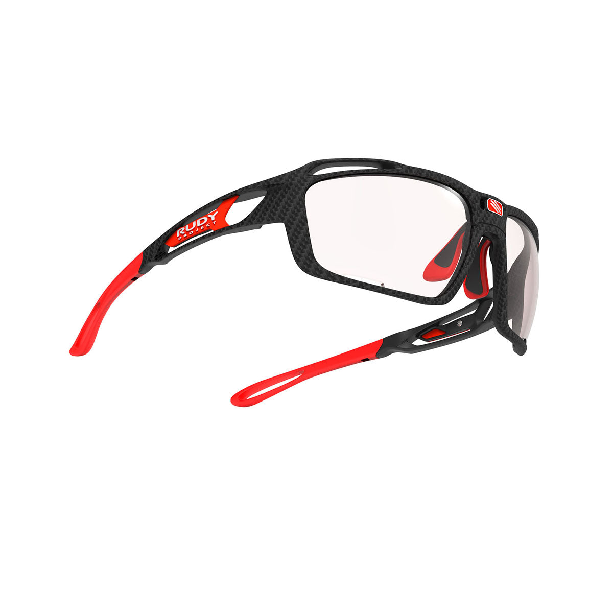 Rudy Project - Sintryx - frame color: Carbonium - lens color: ImpactX-2 Photochromic Clear to Red - Bumper Color:  - photo angle: Bottom Front Angle Variant Hover Image