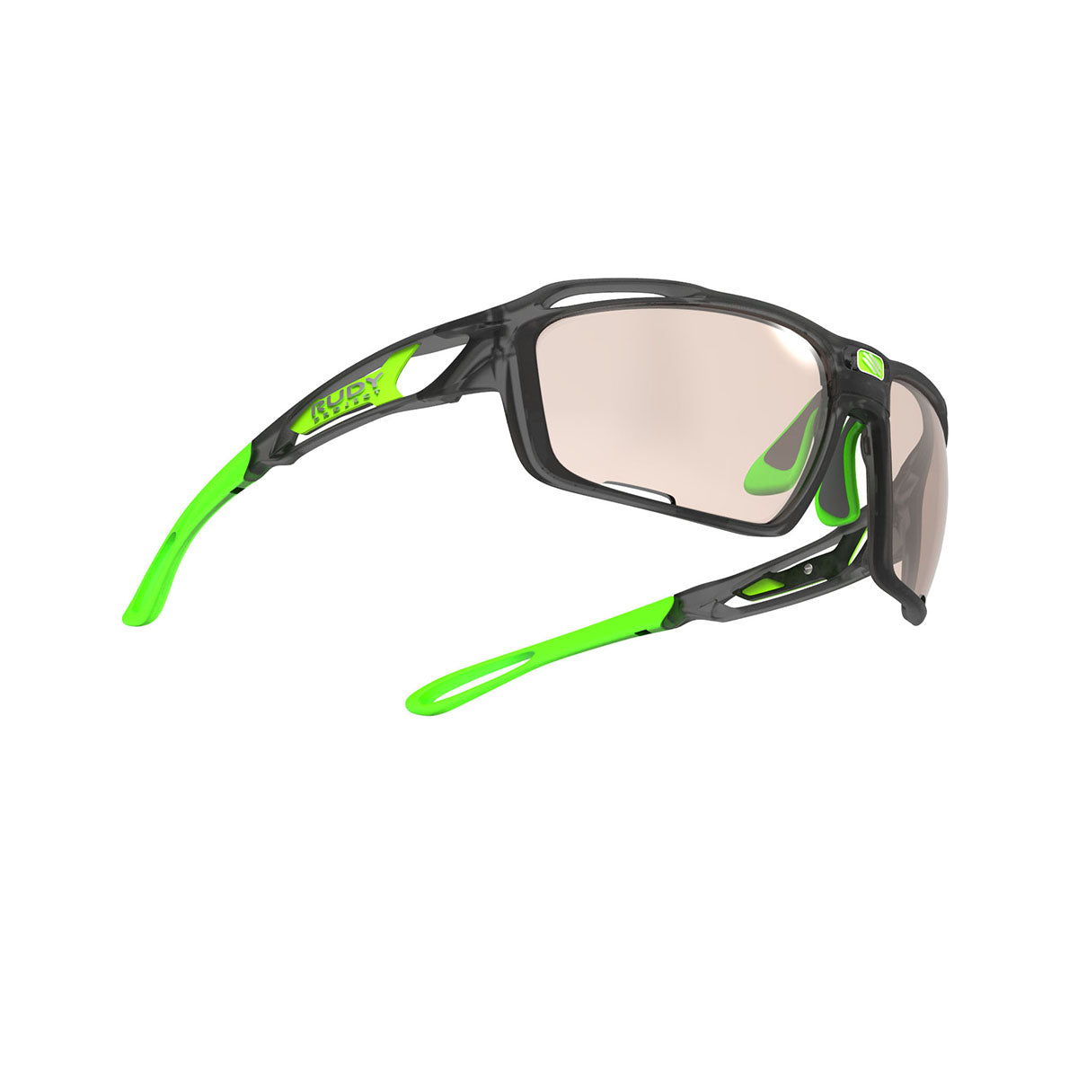 Rudy Project - Sintryx - frame color: Ice Graphite Matte - lens color: ImpactX-2 Photochromic Clear to Laser Brown - Bumper Color:  - photo angle: Bottom Front Angle Variant Hover Image