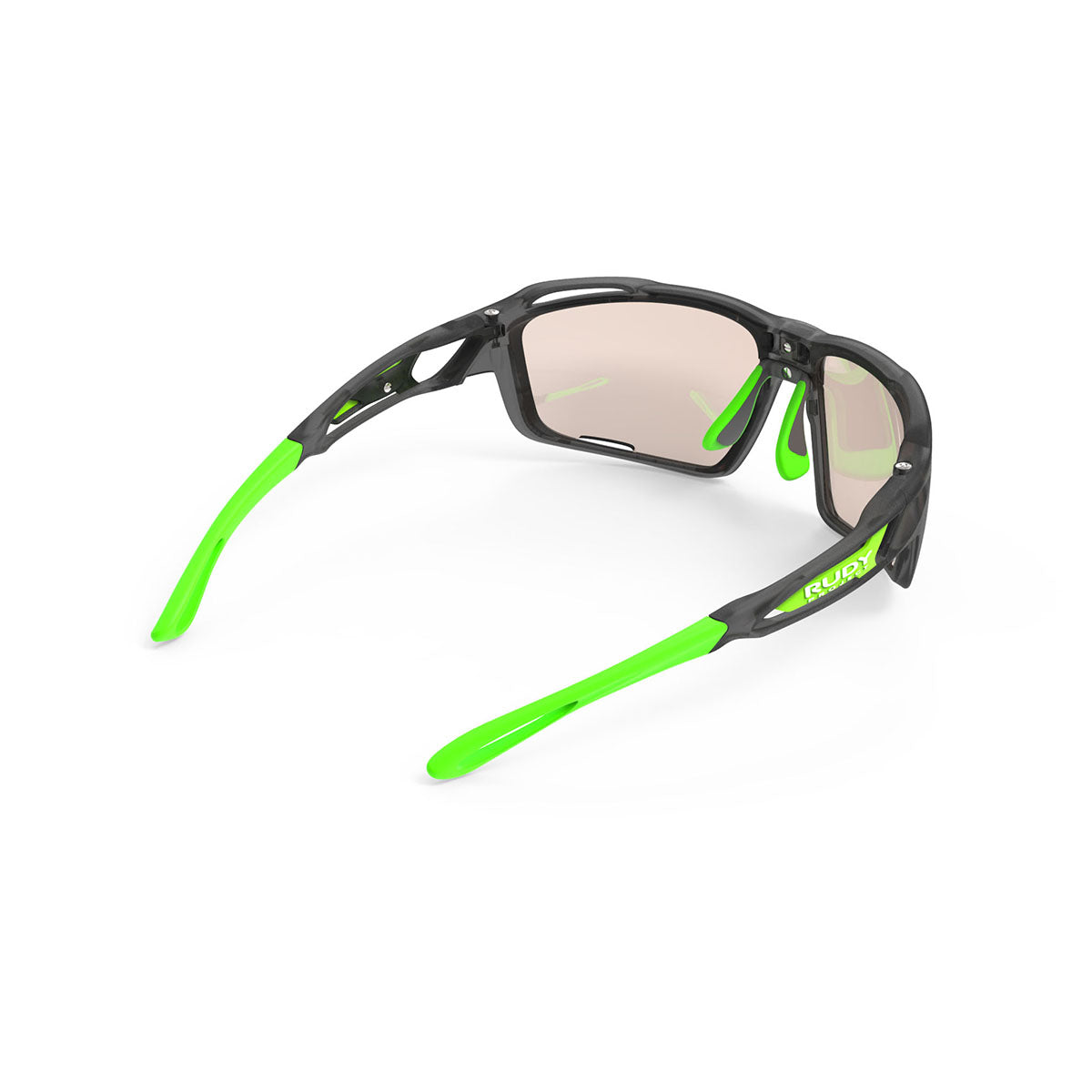 Rudy Project - Sintryx - frame color: Ice Graphite Matte - lens color: ImpactX-2 Photochromic Clear to Laser Brown - Bumper Color:  - photo angle: Top Back Angle Variant Hover Image