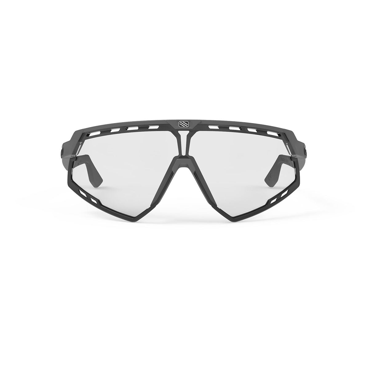 Rudy Project - Defender - frame color: Graphene - lens color: ImpactX-2 Photochromic clear to black - Bumper Color: Black - photo angle: Front View Variant Hover Image