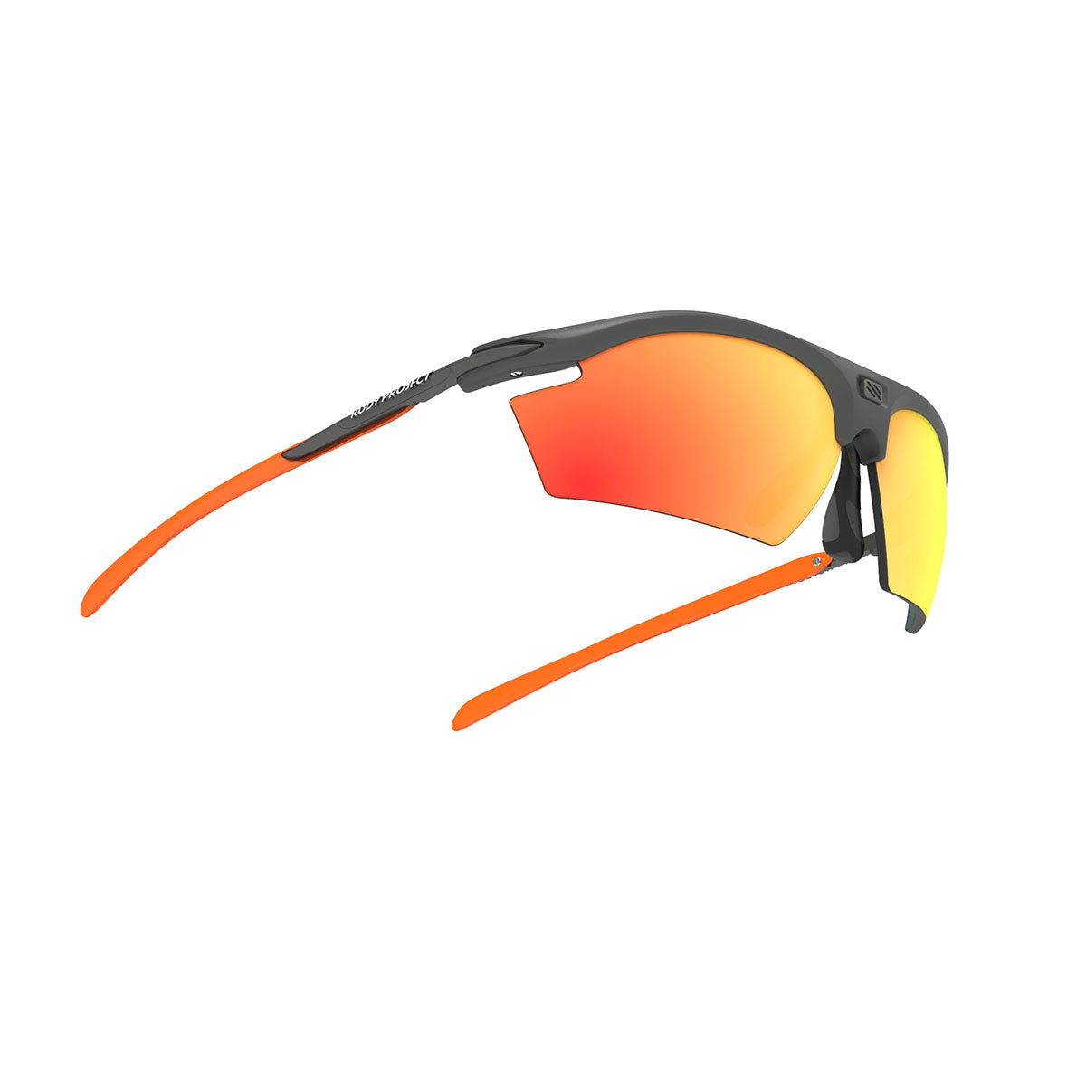 Rudy Project - Rydon - frame color: Graphite Multicolor Orange - lens color: Multilaser Orange - photo angle: Bottom Front Angle Variant Hover Image