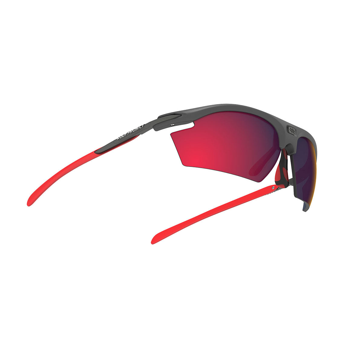 Rudy Project - Rydon - frame color: Graphite Multicolor Red - lens color: Multilaser Red - photo angle: Bottom Front Angle Variant Hover Image