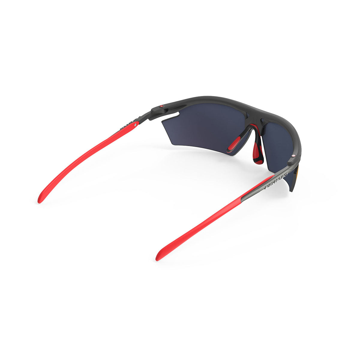 Rudy Project - Rydon - frame color: Graphite Multicolor Red - lens color: Multilaser Red - photo angle: Top Back Angle Variant Hover Image