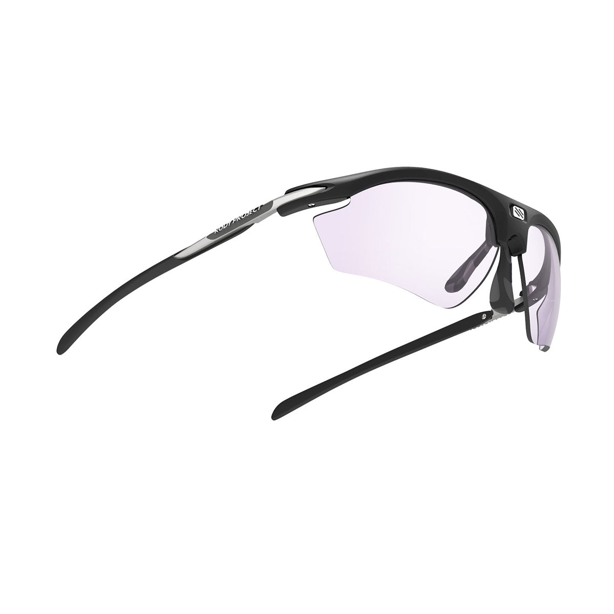 Rudy Project - Rydon Golf - frame color: Matte Black - lens color: ImpactX-2 Photochromic Laser Purple - photo angle: Bottom Front Angle Variant Hover Image