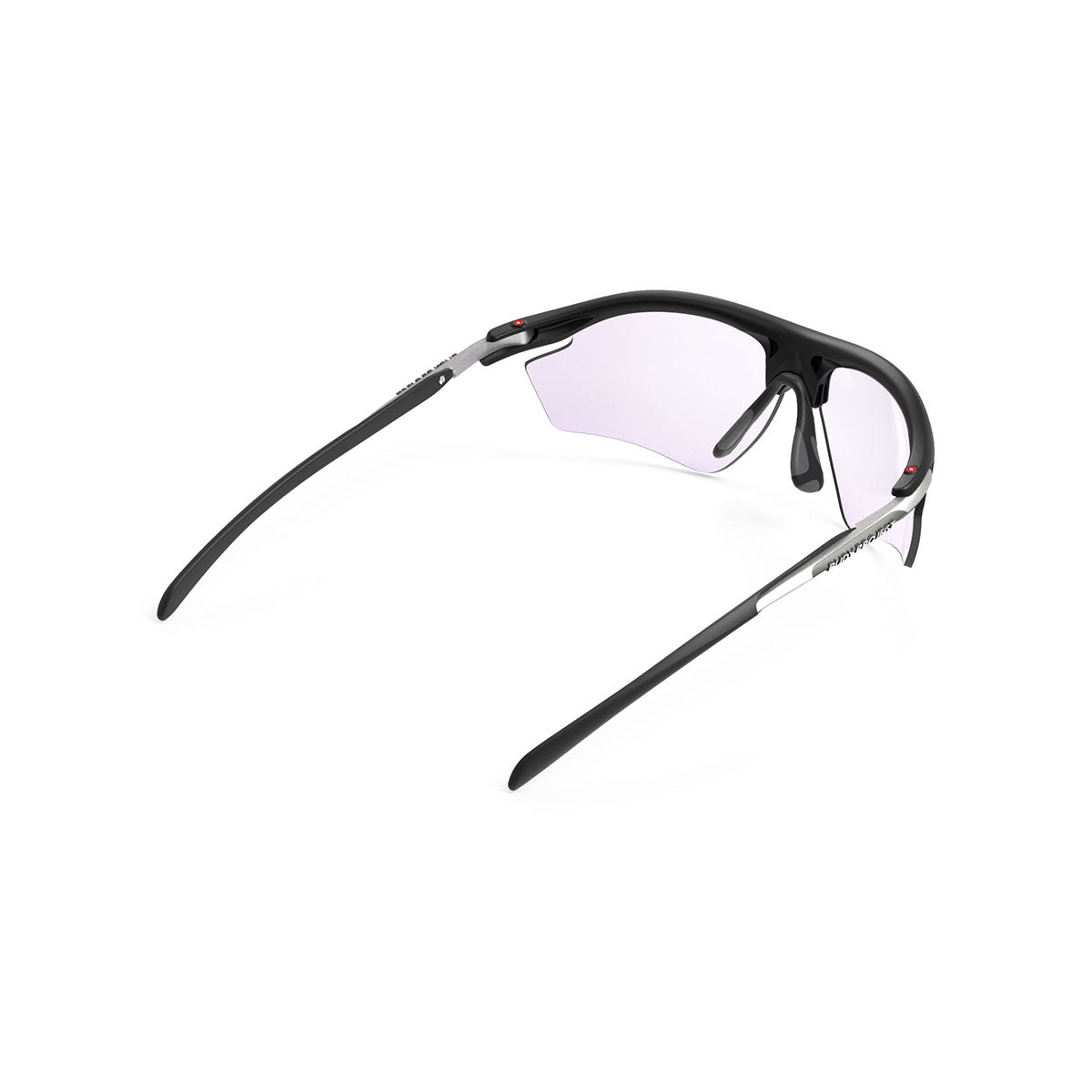 Rudy Project - Rydon Golf - frame color: Matte Black - lens color: ImpactX-2 Photochromic Laser Purple - photo angle: Top Back Angle Variant Hover Image