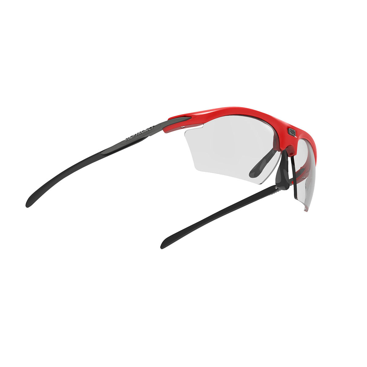 Rudy Project - Rydon Slim  - frame color: Fire Red Gloss - lens color: ImpactX-2 Photochromic Clear to Black - photo angle: Bottom Front Angle Variant Hover Image