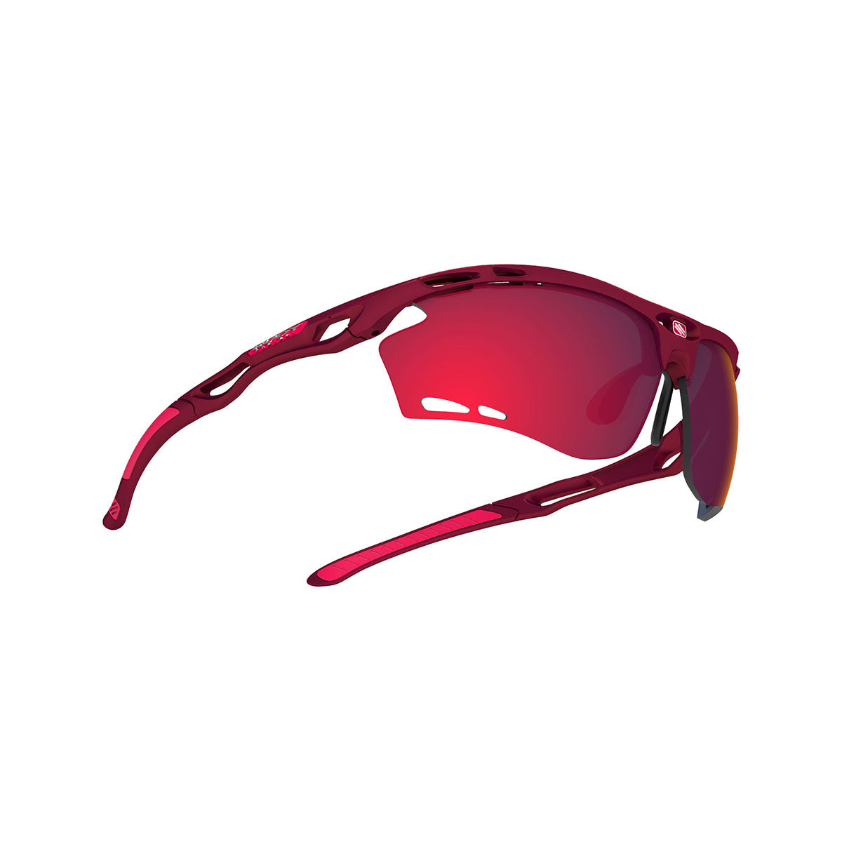 Rudy Project - Propulse - frame color: Merlot Matte - lens color: Multilaser Red - Bumper Color:  - photo angle: Bottom Front Angle Variant Hover Image