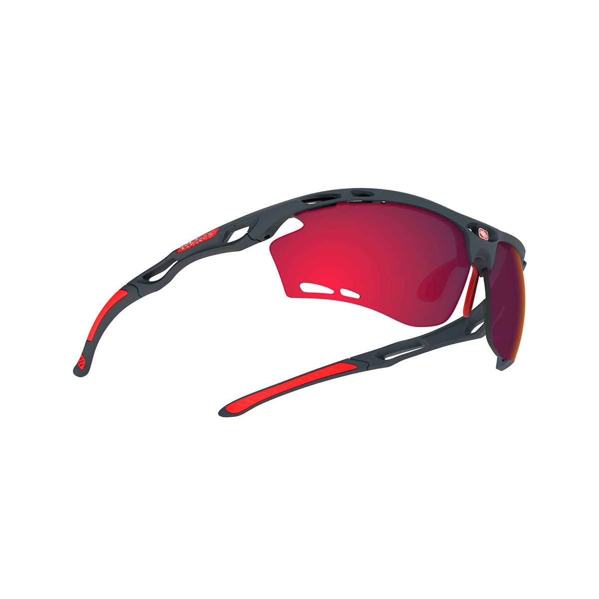 Rudy Project - Propulse - frame color: Charcoal Matte - lens color: Multilaser Red - Bumper Color:  - photo angle: Bottom Front Angle Variant Hover Image