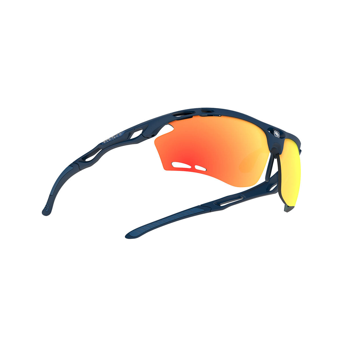 Rudy Project - Propulse - frame color: Navy Blue Matte - lens color: Multilaser Orange - Bumper Color:  - photo angle: Bottom Front Angle Variant Hover Image