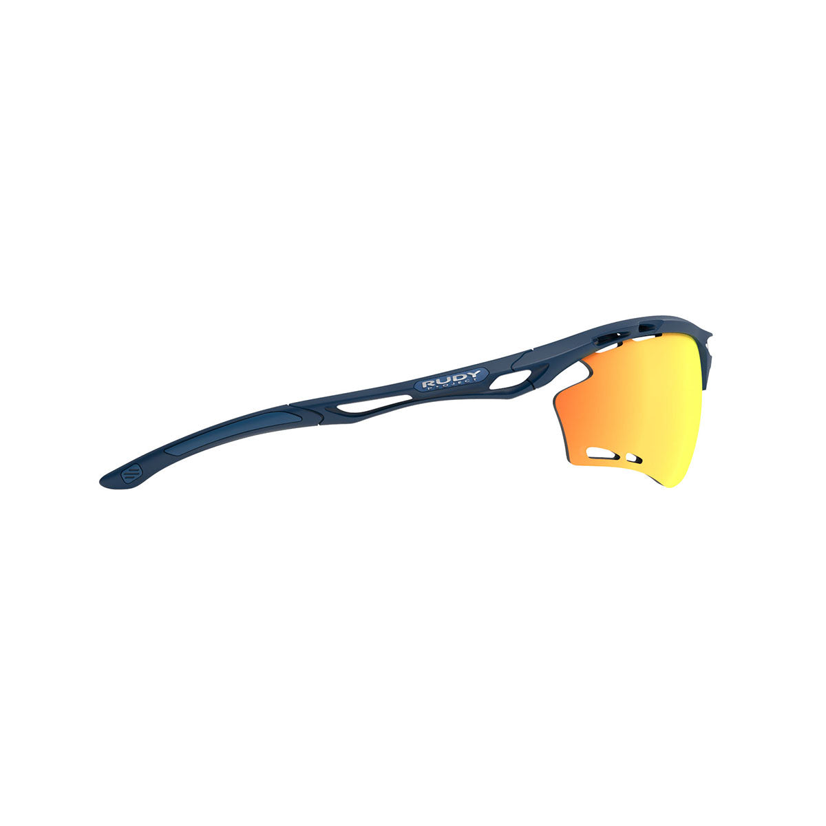 Rudy Project - Propulse - frame color: Navy Blue Matte - lens color: Multilaser Orange - Bumper Color:  - photo angle: Side Variant Hover Image