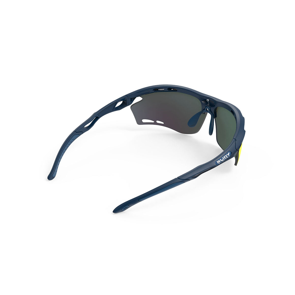 Rudy Project - Propulse - frame color: Navy Blue Matte - lens color: Multilaser Orange - Bumper Color:  - photo angle: Top Back Angle Variant Hover Image