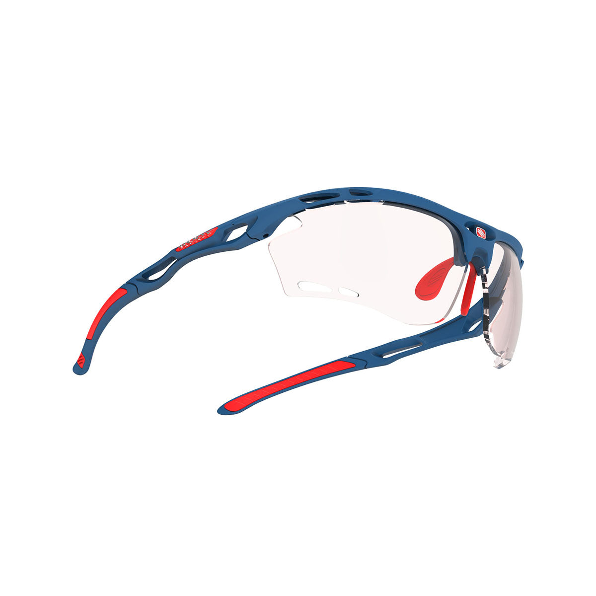 Rudy Project - Propulse - frame color: Pacific Blue Matte - lens color: ImpactX-2 Photochromic Clear to Red - Bumper Color:  - photo angle: Bottom Front Angle Variant Hover Image
