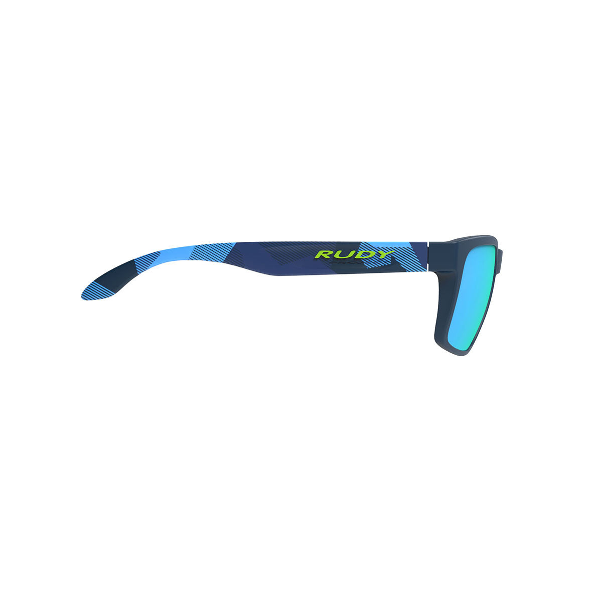 Rudy Project - Spinhawk - frame color: Neo Camo Blue - lens color: Multilaser Blue - Bumper Color:  - photo angle: Side Variant Hover Image