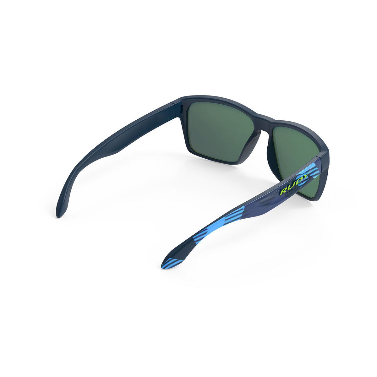 Rudy Project - Spinhawk - frame color: Neo Camo Blue - lens color: Multilaser Blue - Bumper Color:  - photo angle: Top Back Angle Variant Hover Image