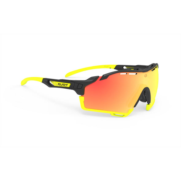 cutline | cutline Matte Black Frame with Multilaser Orange Lenses Yellow Fluo Bumpers