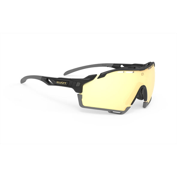 cutline | cutline Black Gloss Frame with Multilaser Gold Lenses Grey Bumpers