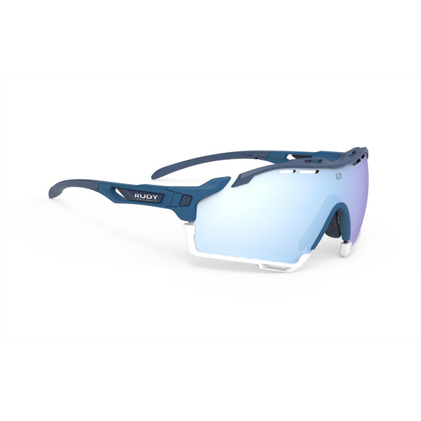 cutline | cutline Pacific Blue Matte Frame with Multilaser Ice Lenses White Bumpers