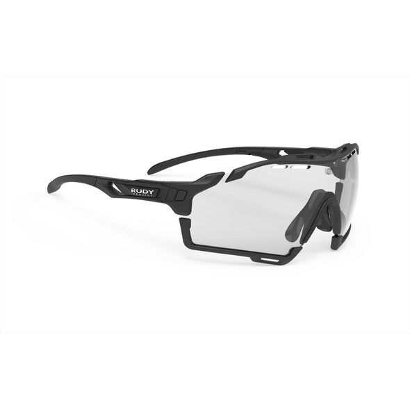 cutline | cutline Matte Black Frame with ImpactX-2 Photochromic Clear to Black Lenses Black Bumpers