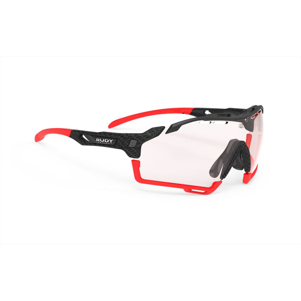 cutline | cutline Carbonium Frame with ImpactX-2 Photochromic Clear to Red Lenses Red Bumpers