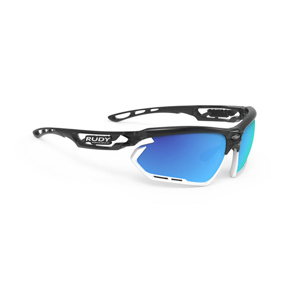 fotonyk | fotonyk Crystal Graphite Frame and Multilaser Blue Lenses White Bumpers
