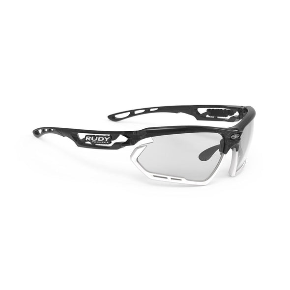 fotonyk | fotonyk Crystal Graphite Frame and ImpactX-2 Photochromic Clear to Black Lenses White Bumpers