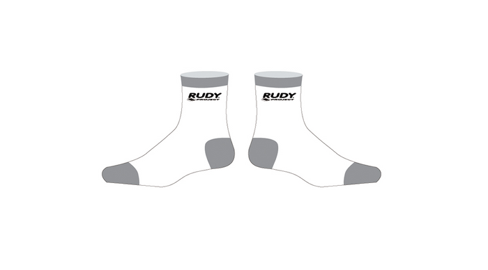 White Cycling Socks