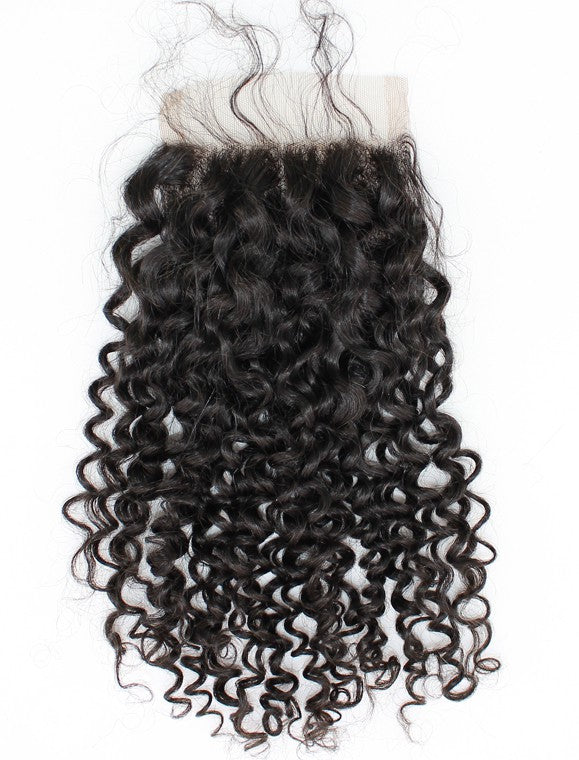 Virgin Peruvian Curly Lace Closure Snaps Attached-10% DISCOUNT CODE V9SQ-0208-TKM6