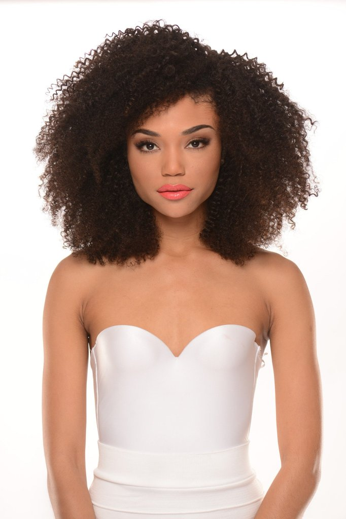 Virgin Peruvian 4B Curl Lace U-Part Wig