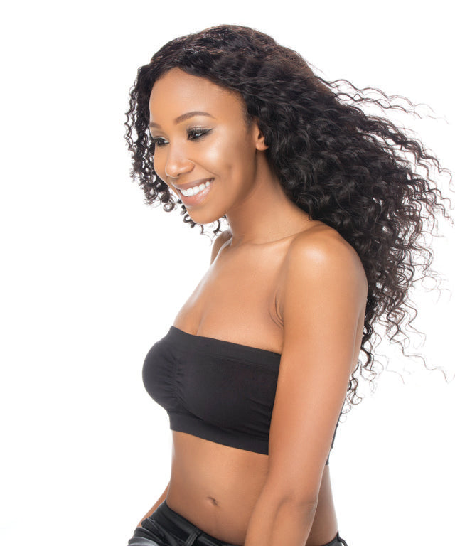 Virgin Peruvian Deep Wave U-Part Wig